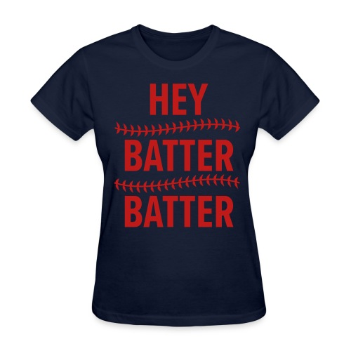 Hey Batter, Batter RED GLITTER Womens - Women's T-Shirt