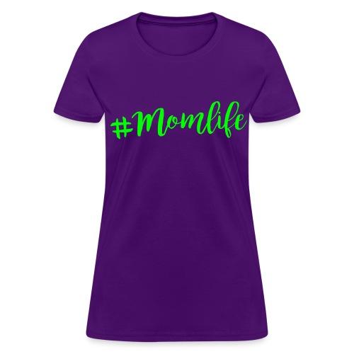 Momlife NEON GREEN FLAT Print Womens - Women's T-Shirt