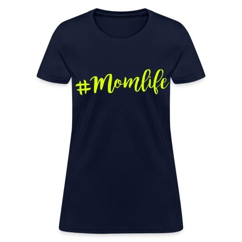 Momlife NEON YELLOW FLAT Print Womens - Women's T-Shirt