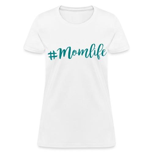 Momlife Teal Print Womens - Women's T-Shirt