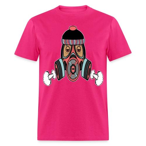 Gas Mask Pink - Men's T-Shirt
