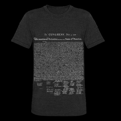 Declaration of Independence Shirt - Unisex Tri-Blend T-Shirt