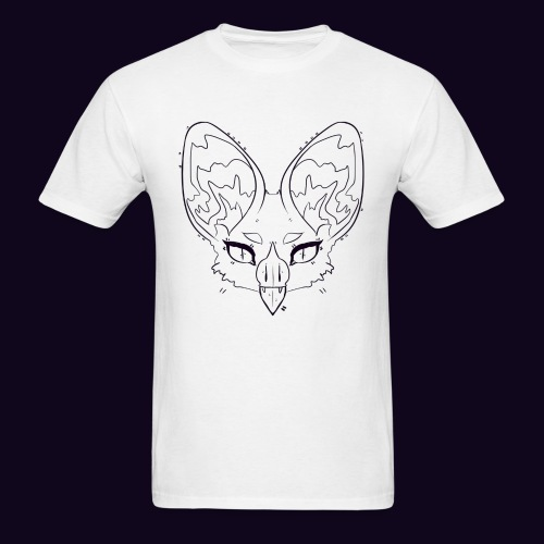 white bat t-shirt - Men's T-Shirt