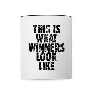 Winner Mug Vintage/Black - Contrast Coffee Mug