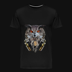 MUSIC LOVER OWL VI - Men's Premium T-Shirt
