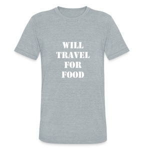 will travel for food mens t-shirt - Unisex Tri-Blend T-Shirt by American Apparel