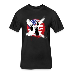 Americans Against Warmongering Fitted Tee - Fitted Cotton/Poly T-Shirt by Next Level