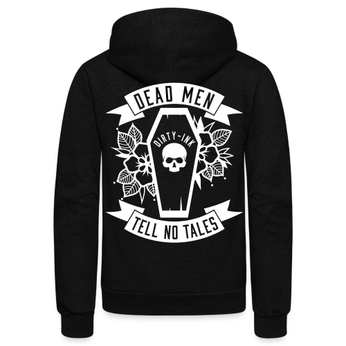 Dead Men Tell No Tales - Unisex Zip Up Black - Unisex Fleece Zip Hoodie
