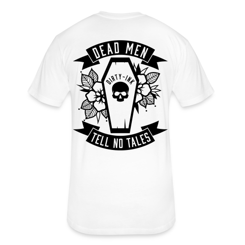 Dead Men Tell No Tales - Unisex Tee White - Fitted Cotton/Poly T-Shirt by Next Level