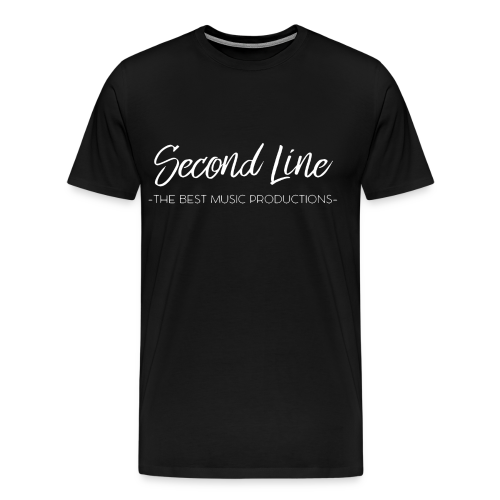Second Line White Print Tee - Men's Premium T-Shirt