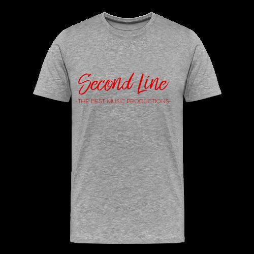 Second Line Red Print Tee - Men's Premium T-Shirt
