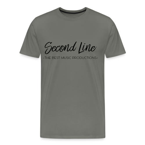 Second Line Black Print Tee - Men's Premium T-Shirt