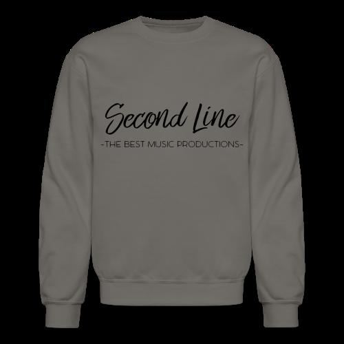 Second Line Black Print Crewneck - Crewneck Sweatshirt