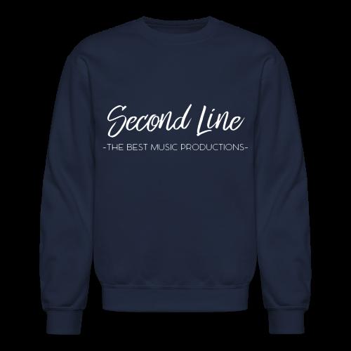 Second Line White Print Crewneck - Crewneck Sweatshirt