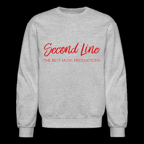 Second Line Red Print Crewneck - Crewneck Sweatshirt