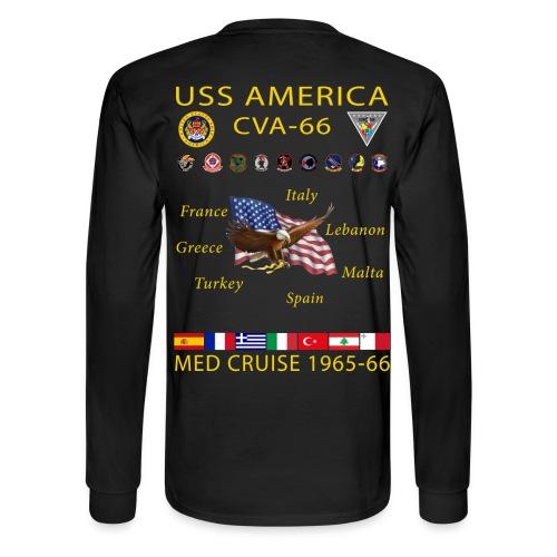 USS AMERICA CVA-66 1965-66 CRUISE SHIRT - LONG SLEEVE - Men's Long Sleeve T-Shirt