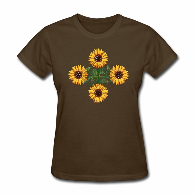 Night Blooms From the Sun Ladies' T-shirt