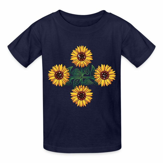 Night Blooms From the Sun Kids' T-shirt