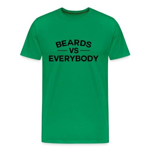 Beards VS Everyone - Men's Premium T-Shirt