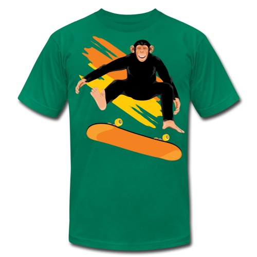 Monkey on the skateboard - Men's  Jersey T-Shirt