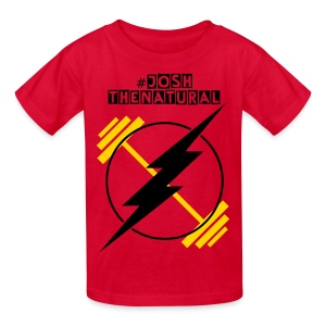 Josh the Natural Weightlifter Kids Tee - Kids' T-Shirt