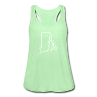 Tanks ~ Women's Flowy Tank Top by Bella ~ Rhode Island Outline Womens