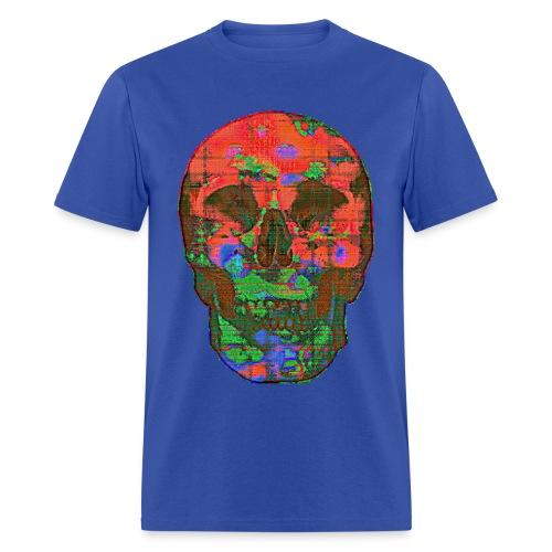 Glitch Skull 01 - Men's T-Shirt