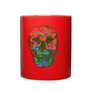 Glitch Skull 01 - Full Color Mug
