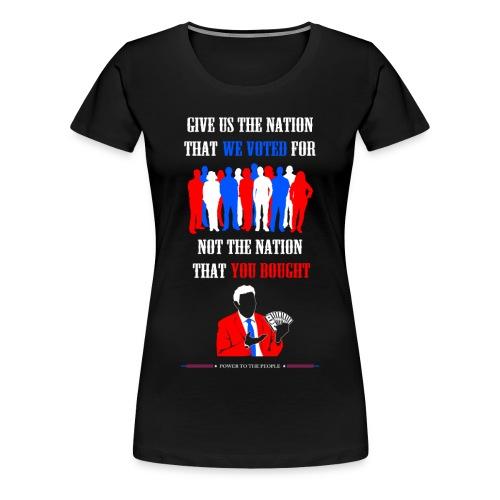 Power To The People - Womens Tee - Women's Premium T-Shirt