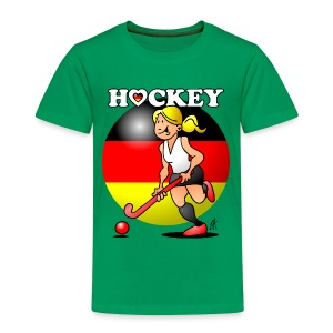 Hockey lady of the German field hockey team. Baby & Toddler Shirts - Toddler Premium T-Shirt