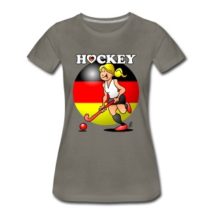 Hockey lady of the German field hockey team. Women's T-Shirts - Women's Premium T-Shirt