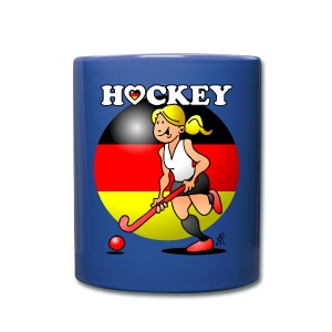 Hockey lady of the German field hockey team. Mugs & Drinkware - Full Color Mug