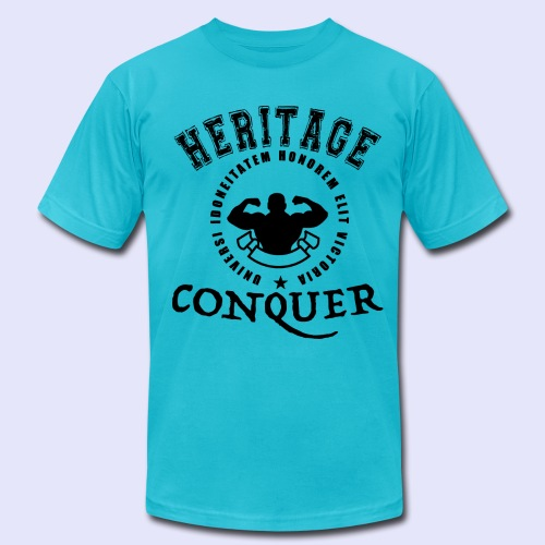 Men's T-Shirt Heritage Conquer Black - Men's Fine Jersey T-Shirt
