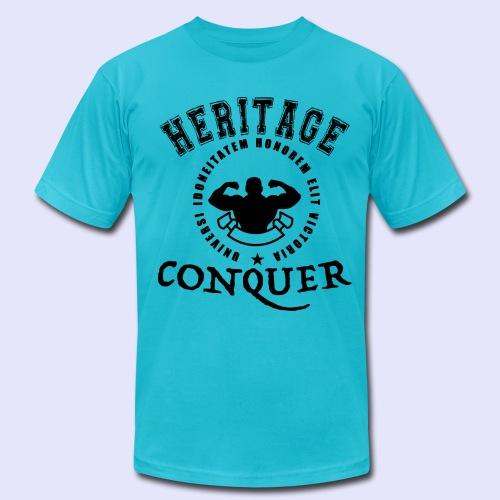 Men's T-Shirt Heritage Conquer Black - Men's  Jersey T-Shirt