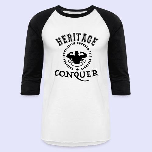 Men's Baseball T-Shirt Heritage Conquer Black - Baseball T-Shirt
