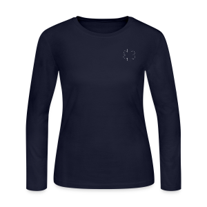Long Sleeve Women's Tee with Star of Life outline - Women's Long Sleeve Jersey T-Shirt