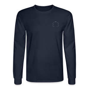 Long Sleeve Men's Tee with Star of Life outline - Men's Long Sleeve T-Shirt