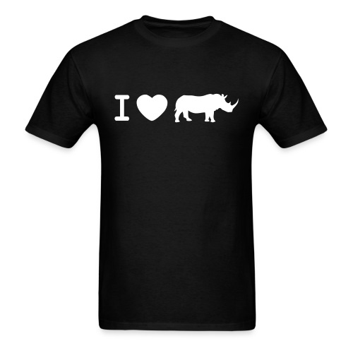 I love rhinos - Men's T-Shirt
