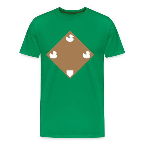 Ducks on a Pond - Green - Men's Premium T-Shirt