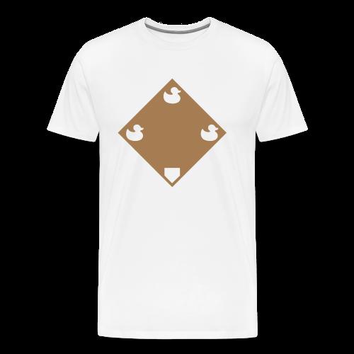 Ducks on a Pond - White - Men's Premium T-Shirt