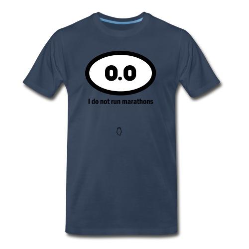 0.0 I do not run marathons - Men's Premium T-Shirt