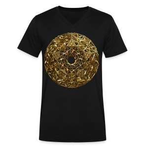 Truncated Hyper-Dodecahedron Ag - Men's V-Neck T-Shirt by Canvas