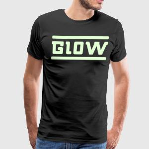 GL0W - black/glow-in-the-dark - Men's Premium T-Shirt