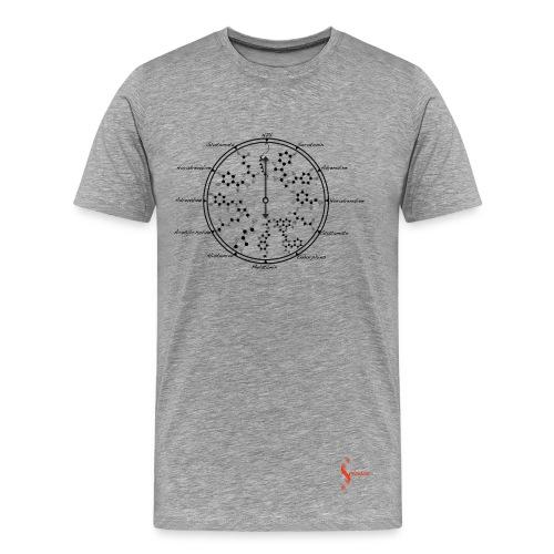 Neurotransmitters during workday_Black-ConScience - Men's Premium T-Shirt