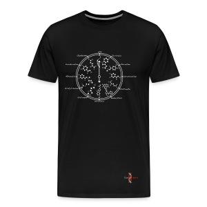 Neurotransmitters during workday_White-ConScience - Men's Premium T-Shirt