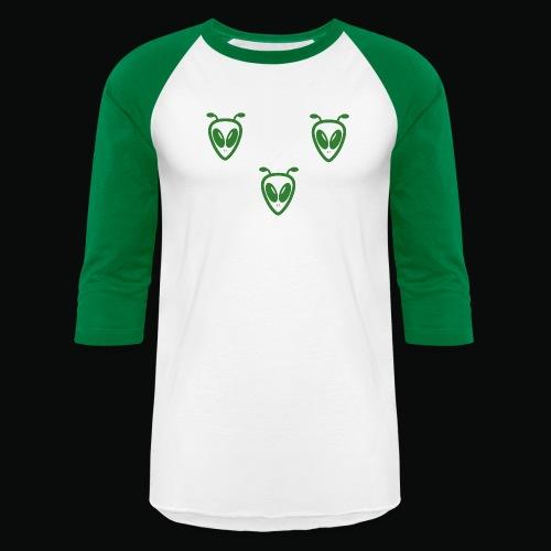 AlienGreen01 - Baseball T-Shirt