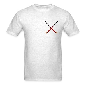 Crossed Field Hockey Sticks - Men's T-Shirt