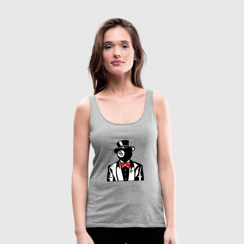 billiards bowler suit bowtie 1 Tanks - Women's Premium Tank Top
