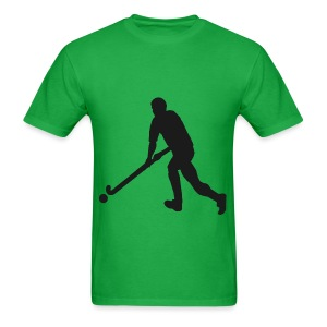 Men's Field Hockey Player in Silhouette - Men's T-Shirt