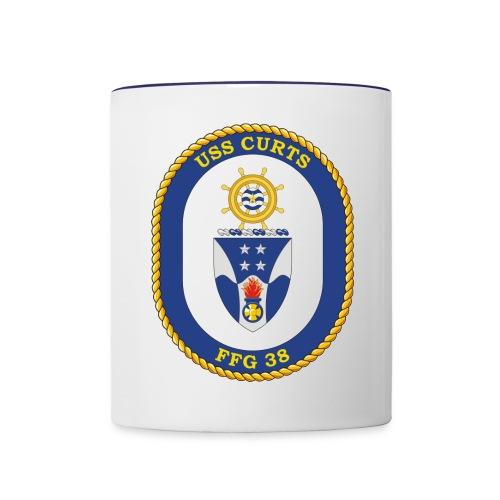 USS CURTS FFG 38 - Contrast Coffee Mug